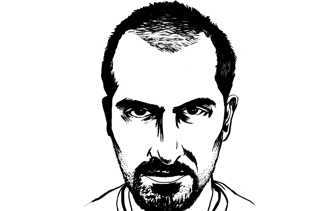 A drawing of Bassel Khartabil