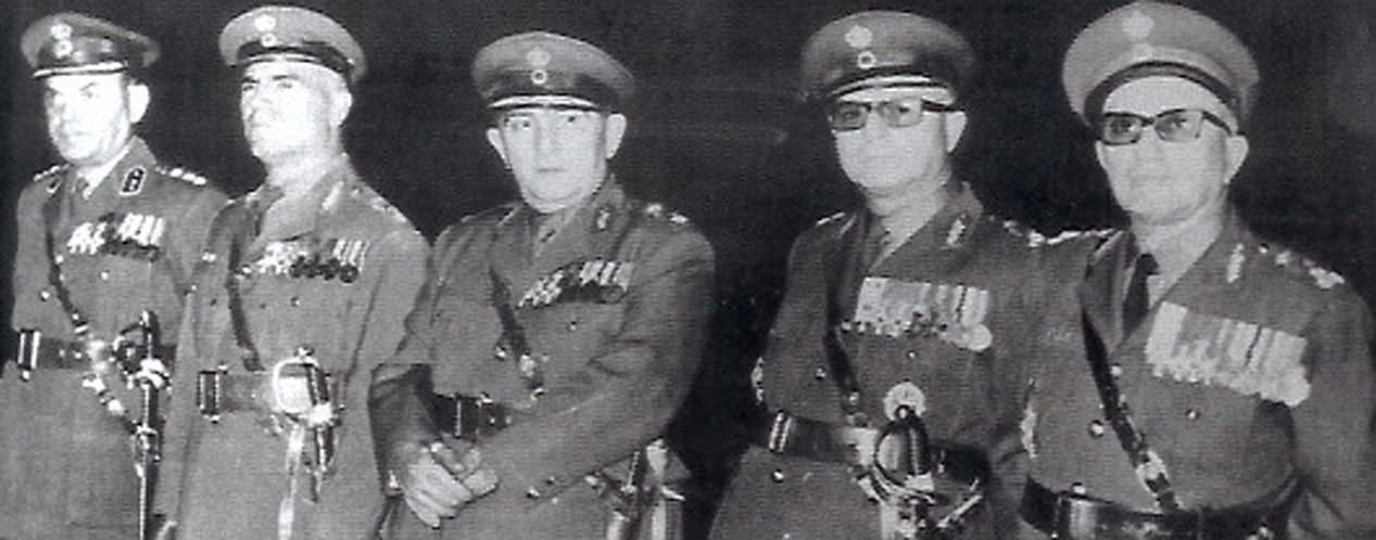 A photo of the Greek military Junta