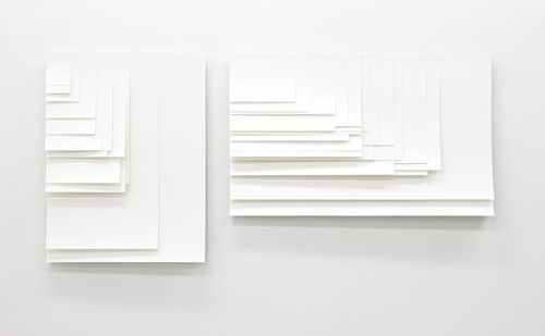 Screen sizes, shown in a non-flexible medium. Photo and work by Aram Bartholl.