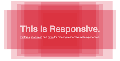 This Is Responsive, the excellent resource about responsive design by Brad Frost.