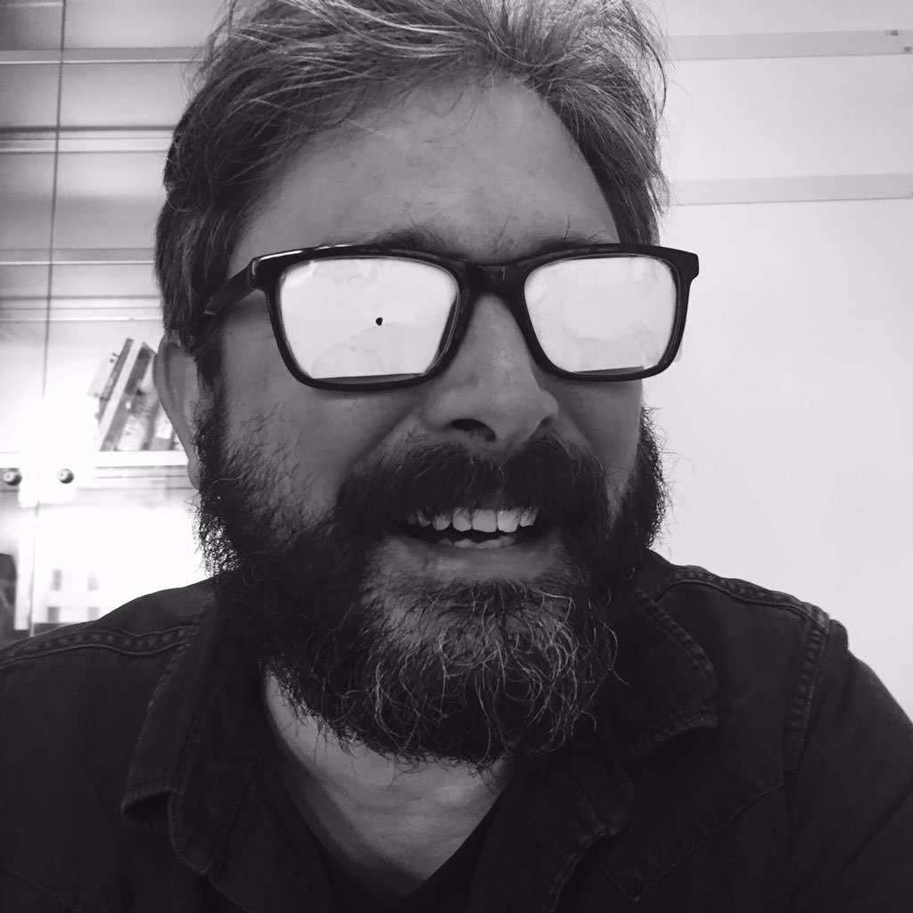 Vasilis with pinhole glasses. Photo by Yuri Westplat