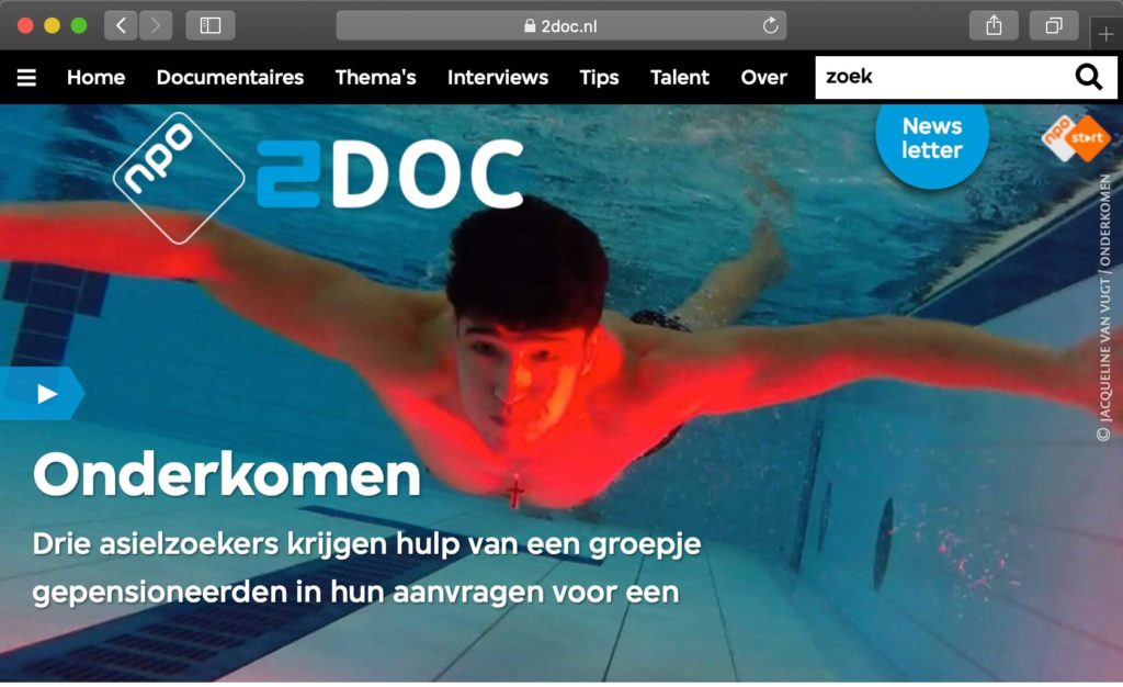 An image of the homepage of 2doc.nl